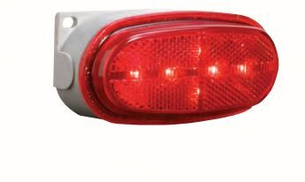 BETTS Plug and Seal 200 Series 12 Inch Male Plug LED Marker Light Red Reflective Lens Single Contact