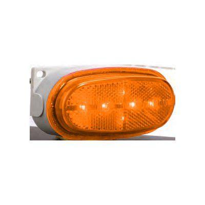 BETTS Plug & Seal 200 Series, 12 Inch Male Plug, LED Marker Light, Amber Reflective Lens, Single Contact