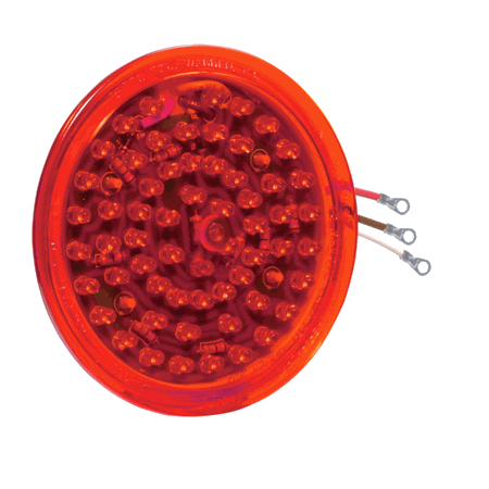 BETTS Red, Shallow LED Lens Insert With (3) Eyelets for 40,45,47 Series VALOX Lamps