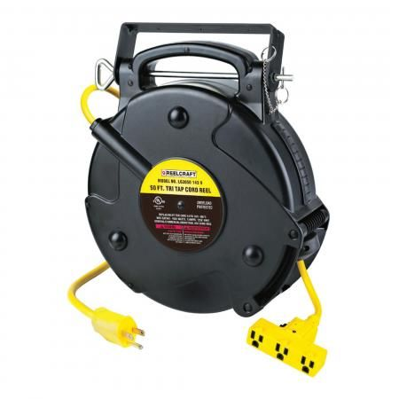 LG3050 143 9 – 14/3 50 ft. Triple Outlet Power Cord Reel