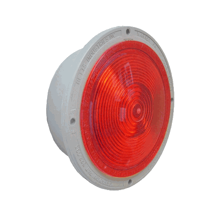 BETTS RED, INCANDESCENT BULB, SHALLOW, STOP, TURN, TAIL, DOUBLE CONTACT W/(3) 18